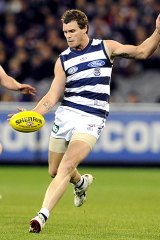 Cool Cat: Cameron Mooney says the pressure is on the Pies.