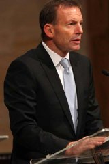 Denied his members a conscience vote ... Tony Abbott.