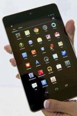 The Google Nexus 7.