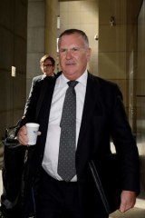 Ethics and tactics questioned: Solicitor Paul McCann arriving at the royal commission hearing.