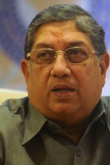 Indian cricket board president N. Srinivasan.