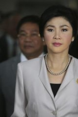 Pressing ahead with Sunday's poll: Thai Prime Minister Yingluck Shinawatra.