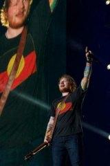 Sheeran: an unlikely rapper.