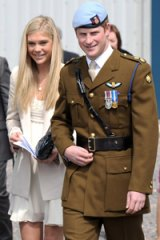 Prince Harry and girlfriend Chelsy Davy are all smiles.