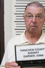 A photo provided by the Hancock County Sheriff's Department shows Henry Rayhons after he was arrested.