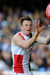 Up in the air: Brendon Goddard.