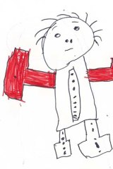 Pain: A drawing by one of the children in detention.