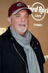 World-famous: Billy Joel attends the Sydney branch of the infamous chain.