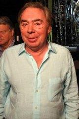Emotional ... composer Andrew Lloyd Webber.