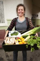 Food host Mem Capp is ready to deliver a full box.