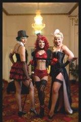 L-R Pixie Elixir, Kelly Ann Doll and Vivianne Van Kitty at the Thornbury Theatre.
