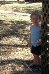 The two-year-old was found at the bottom of a dam on Flynn Road at South Maclean, south of Brisbane, about 8 hours after he went missing.