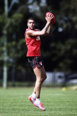 Making his mark: Sydney Swans recruit Buddy Franklin has been living up to his nocturnal reputation since moving to the harbour city.