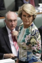 """""""I'm not looking for a smoking gun. I'm looking for a full and frank explanation from the Prime Minister"""" ... Julie Bishop."""