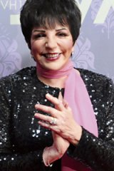 Winging her way to Australia ...  Liza Minnelli at a  concert in New York last month.