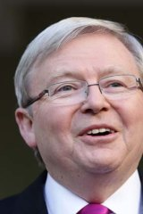 Who you do trust?: Prime Minister Kevin Rudd asks the nation who they believe would best manage the economy.