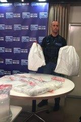 Bags containing the seized liquid fantasy.
