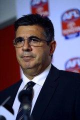 Seeking greater content control ... AFL boss Andrew Demetriou.