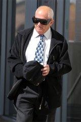 Edward Mamo leaves Warrnambool Courthouse on Monday.