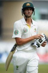 Brave in defeat: Ashton Agar couldn't replicate his first innings heroics.