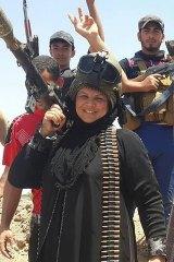 Omaya al-Juburi, sister of Sheikh Marwan al-Juburi, who died fighting Islamic State on June 22.