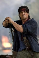 Sylvester Stallone in the film <i>Rambo IV: To Hell And Back</i>.