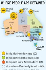 Where people are detained