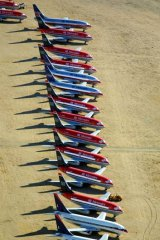 "End of the line ... retired planes at a ""boneyard"" in the Mojave Desert."