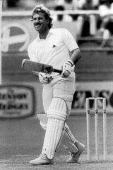 At his confident best: Ian Botham batting for England against Australia in 1986 in Brisbane.