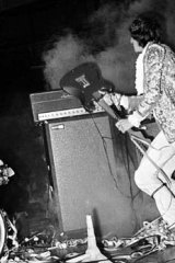 Pete Townshend of The Who demolishes his guitar at the Stadium in Sydney in 1968. 3d-printed gear could withstand such treatment.
