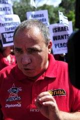 Israeli ambassador Yuval Rotem at the rally.