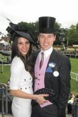 … and wife Hoda Vakili at Royal Ascot in 2011.