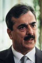Pakistan's Prime Minister Yusuf Raza Gilani.