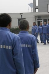 Chinese drug addicts receive treatment at Chengdu Compulsory Drug Rehabilitation Centre.