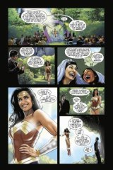 Australian Jason Badower's Wonder Woman cartoon strip in which she marries a lesbian couple.