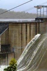 Gladstone area's Awoonga Dam overflows.