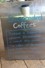 Coffee shops are reporting an enthusiastic response from customers wanting to take part in the anonymous service.