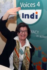 Cathy McGowan after her surprising win (main) that prompted the IndiShares event in Oxley (top) with insight from Andrew Gunter and Judi Emmett.