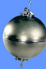 """The ball is believed to be a """"hydrazine bladder tank""""."""