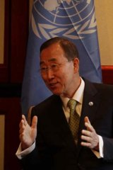 Pushing for limits to free speech ... UN Secretary-General, Ban Ki-Moon.