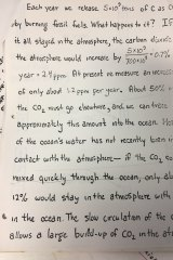 Lecture notes from 1983 underlining the build-up of carbon dioxide at that point. It's now about double that pace.