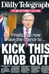 Monday's cover of the Daily Telegraph.