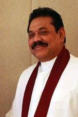 Sri Lanka's President Mahinda Rajapaksa.