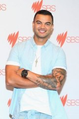 Guy Sebastian performs at the Eurovision song contest on May 23.