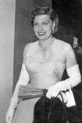 Glittering jet set … Lady (Florence) Packer in 1950.