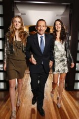 Not all young women dislike Tony Abbott - his daughters seem to like him.