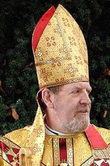 Bishop of Ebbsfleet Andrew Burnham likes pointy hats but not women clergy.