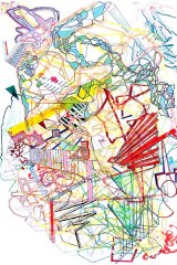 Masato Takasaka, Information Superhighway 2006-7, fibre-tipped pen and pencil on paper.