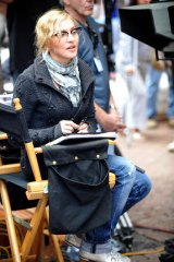 """Behind the scenes … Madonna directing """"W.E."""" in 2010."""