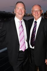 Ian Ross and partner Gray Bolte at Ross' farewell from Seven News in 2009.